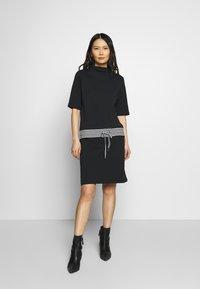 Esprit - RETRO DRESS - Sukienka letnia - black - 1