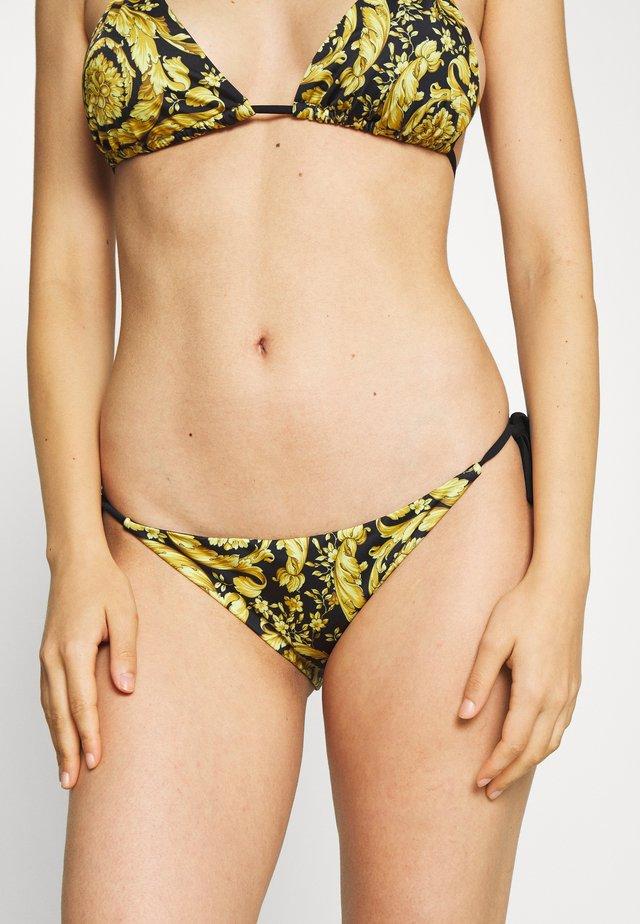 TANGA MARE DONNA - Bikini bottoms - nero/oro