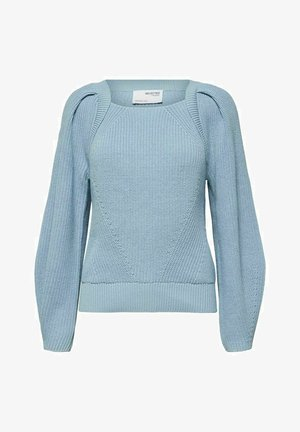 SLFGRY LS SQUARE NECK B - Neule - cashmere blue