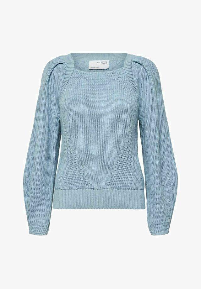 SLFGRY LS SQUARE NECK B - Trui - cashmere blue