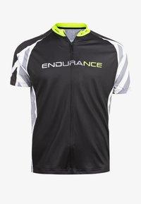 Endurance - RADTRIKOT PARMER M CYCLING - Print T-shirt - black - 7