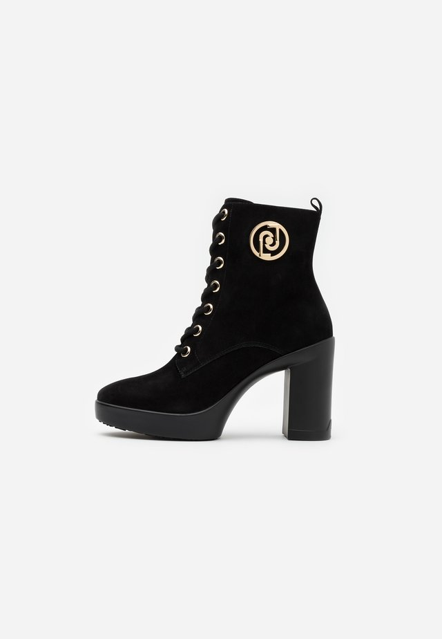 NOW  - Platform ankle boots - black