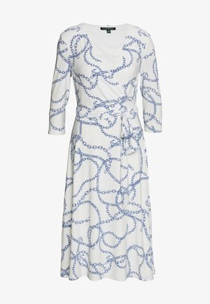 PRINTED MATTE DRESS - Jerseyklänning - colonial cream