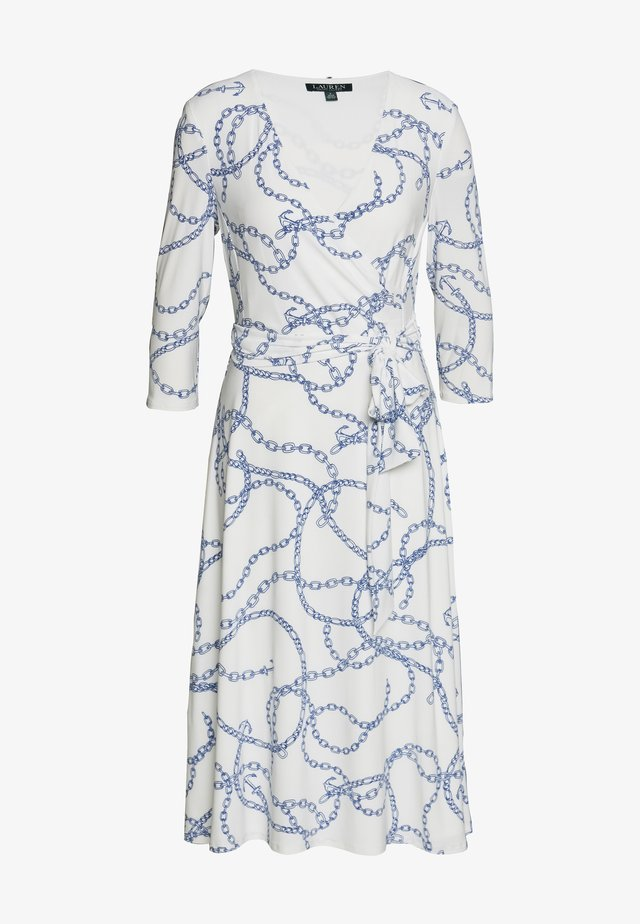 PRINTED MATTE DRESS - Jersey dress - colonial cream