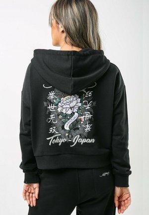 DIAMOND-ROSE CROP ZIP HOODY (DUAL SIZE) - Zip-up sweatshirt - black