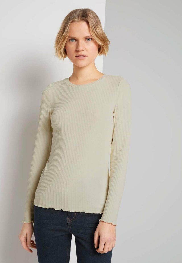 LONGSLEEVE - Long sleeved top - soft creme beige
