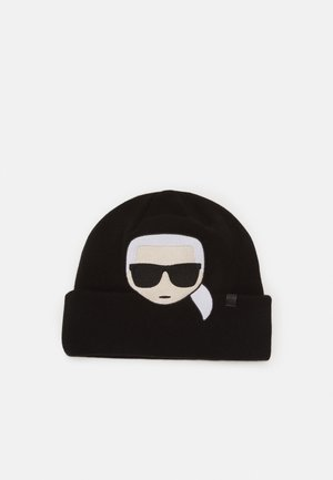 IKONIK EMBROIDERY BEANIE - Berretto - black