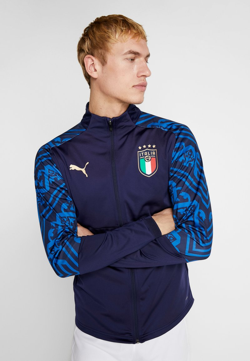 Puma - ITALIEN FIGC PREMATCH AWAY JACKET - Training jacket - peacoat team power blue