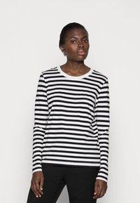 Selected Femme - SLFSTANDARD TEE  - Långärmad tröja - black/bright white - 0