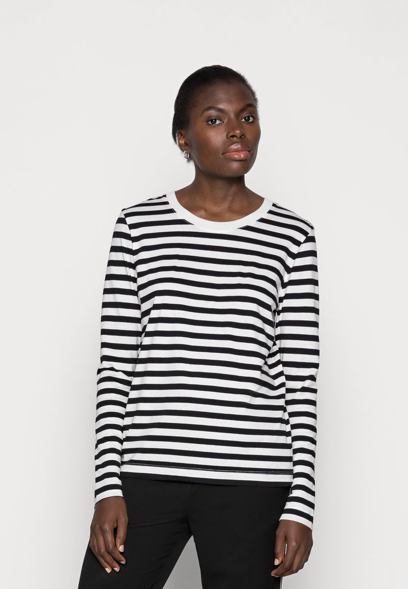 Selected Femme - SLFSTANDARD TEE  - Långärmad tröja - black/bright white