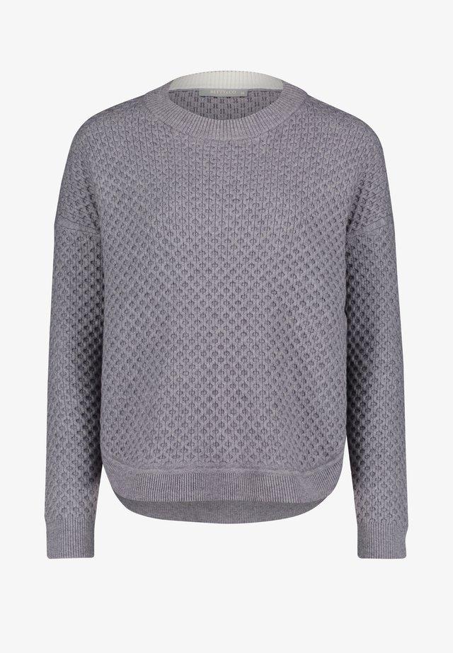 MIT STRUKTUR - Pullover - middle silver melange