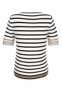 Alba Moda - Print T-shirt - off-white/schwarz/cognac - 4
