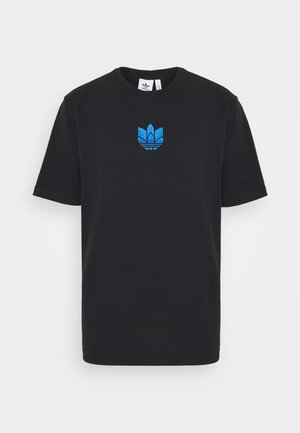 TREFOIL TEE UNISEX - T-shirt con stampa - black/blue