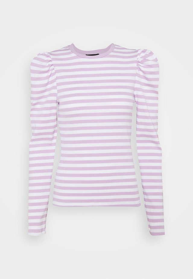 PCANNA TOP - Longsleeve - bright white/orchid bloom