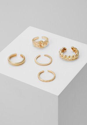 PCKATRINA 5 PACK - Bague - gold-coloured