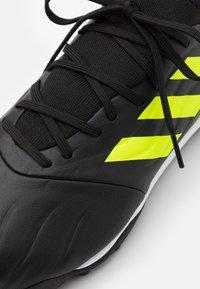 adidas Performance - COPA SENSE.3 TURF - Astro turf trainers - core black/footwear white/solar yellow - 5