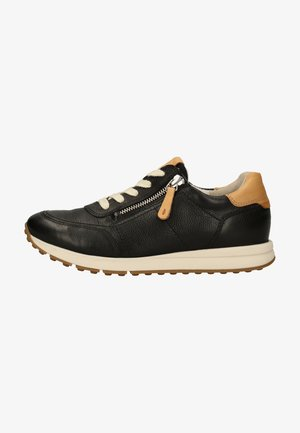 Sneakers laag - schwarz/hellbraun