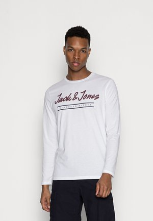 JJHERRO TEE CREW NECK - Long sleeved top - bright white