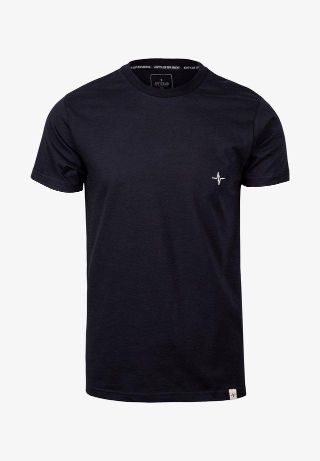 GÜNTHER - Basic T-shirt - black