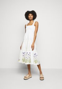 Tory Burch - SMOCKED DRESS - Day dress - new ivory - 0