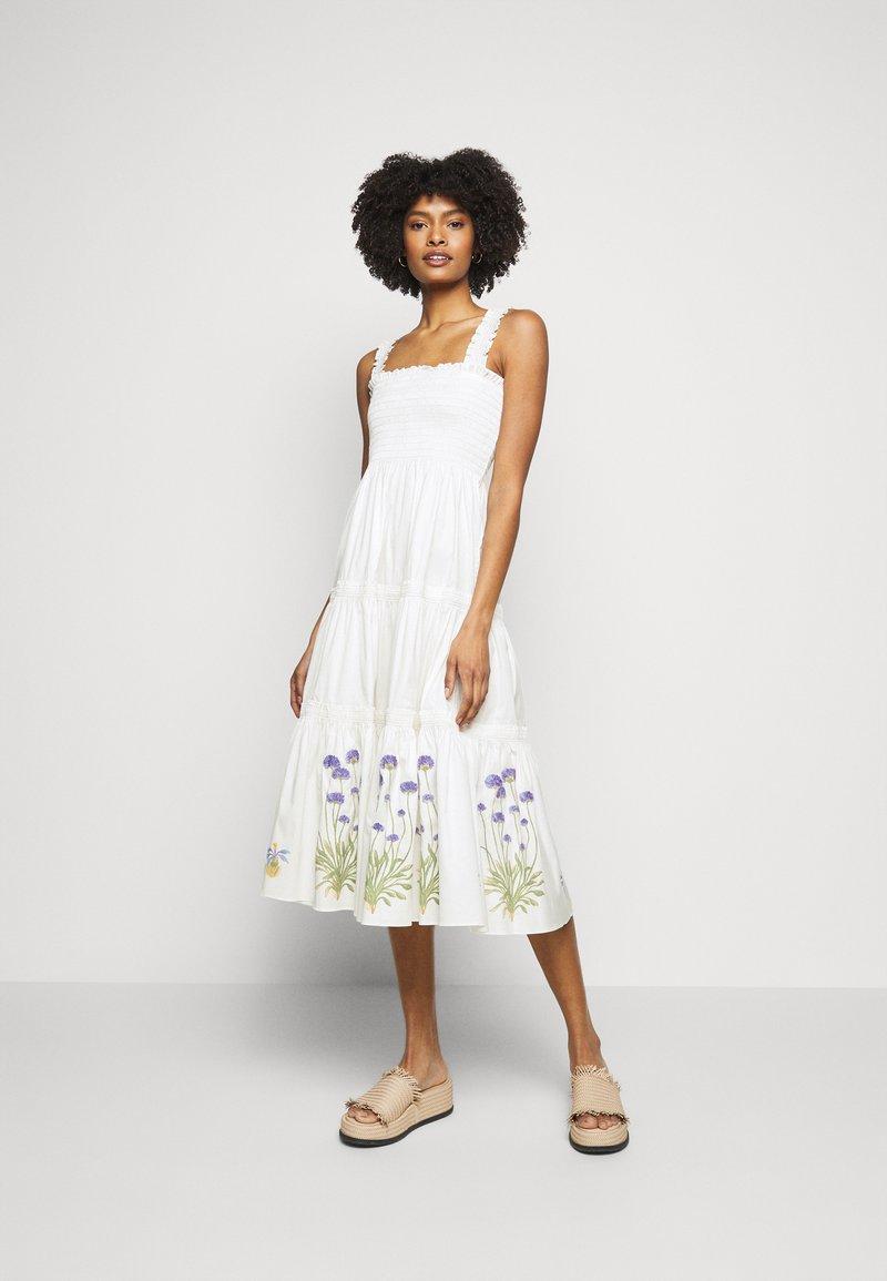 Tory Burch - SMOCKED DRESS - Day dress - new ivory