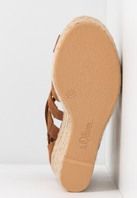 s.Oliver - High heeled sandals - cognac - 6