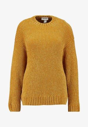 ELSA - Strikkegenser - mustard twisted yarn