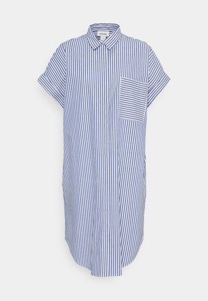 WANNA DRESS - Skjortekjole - blue bright summer stripe
