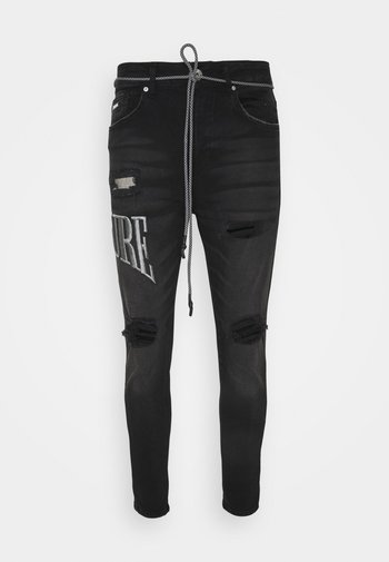 CARROT FIT VARSITY EMBROIDERED - Jeans Tapered Fit - black wash