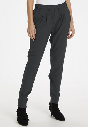 SARAH - Trousers - dark grey melange