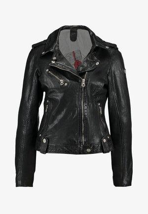 FAMOS - Leather jacket - black