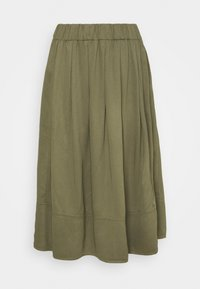 KIA MIDI - A-line skirt - military
