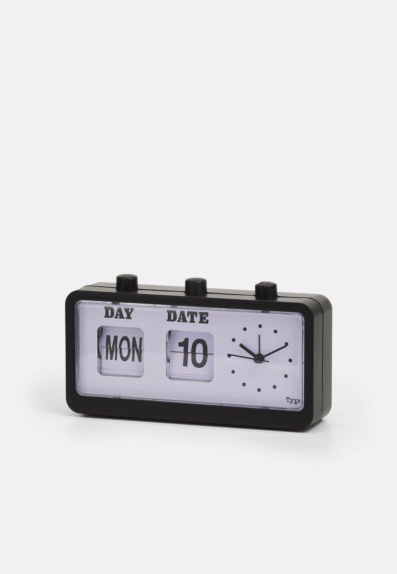 TYPO - RETRO FLIP CLOCK UNISEX - Tech accessory - matte black