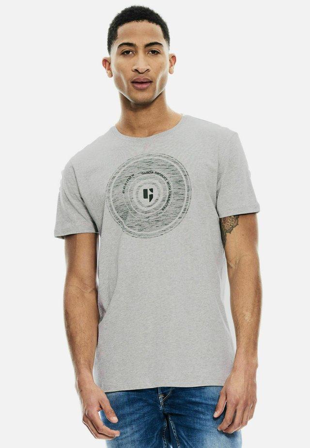 T-shirt print - grey melee