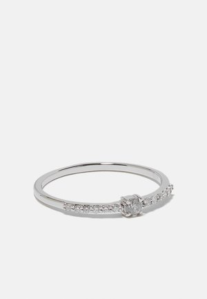 NATURAL DIAMOND RING CERTIFIED 0.12CARAT SOLITAIRE WITH ACCENT DIAMOND RINGS 9KT YELLOW GOLD DIAMOND JEWELLERY GIFTS FOR WOMENS - Sormus - silver-coloured