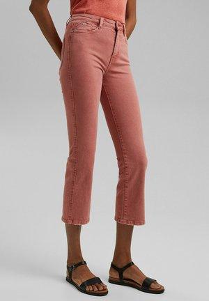 MIT AUSGESTELLTEM BEIN - Jeans Bootcut - coral