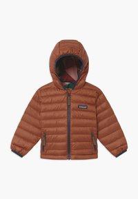 Patagonia - REVERSIBLE HOODY UNISEX - Down jacket - camel/multi-coloured - 0