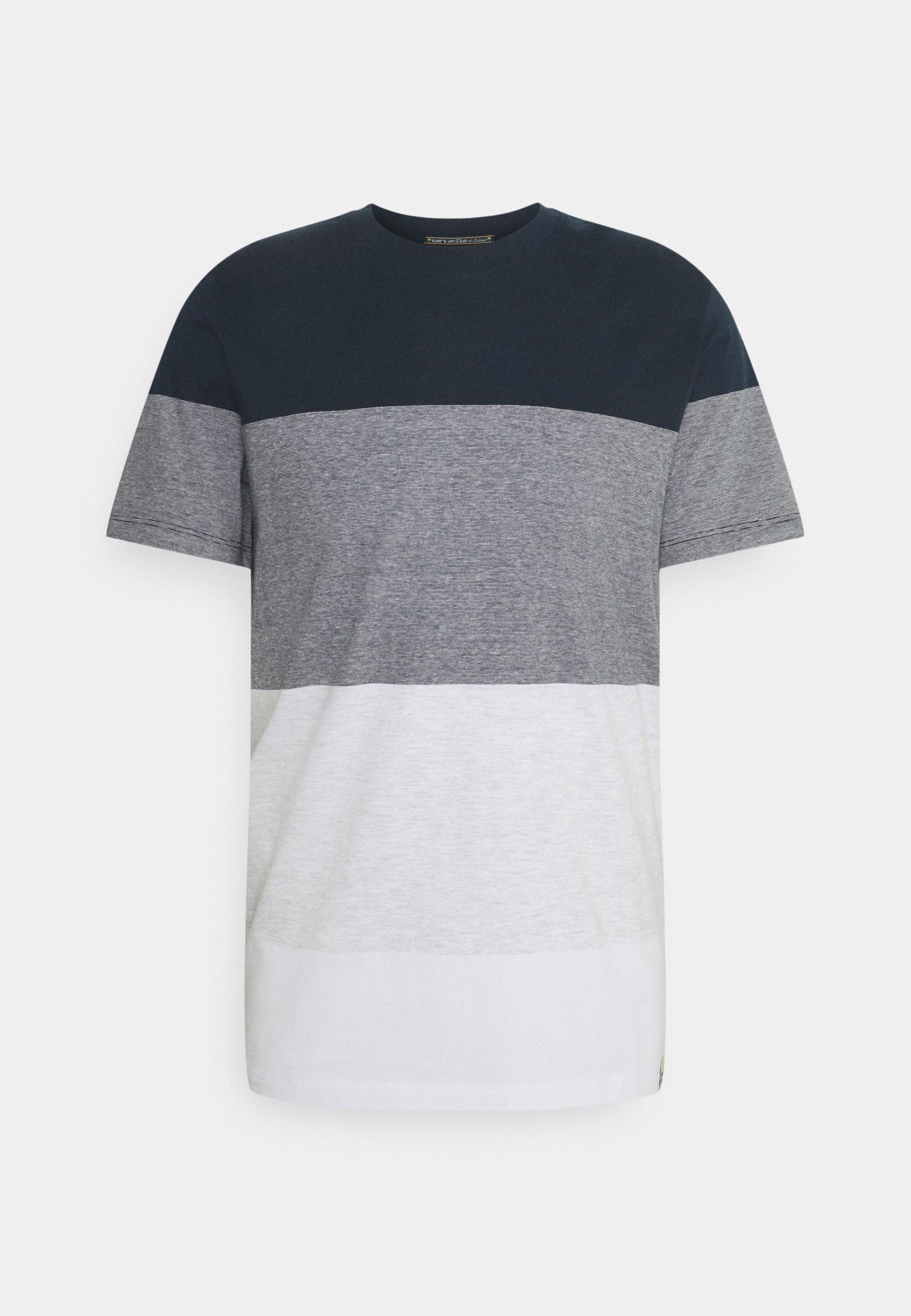Men JORLAGUNA STRIPE TEE CREW NECK - Print T-shirt