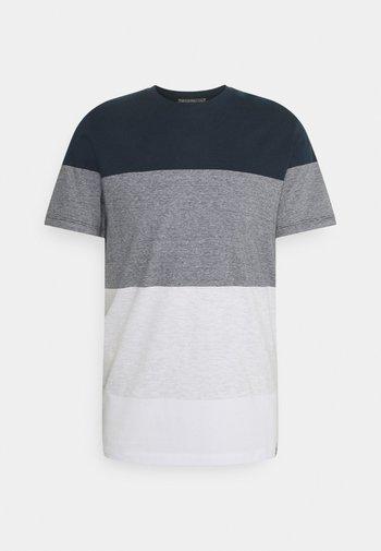 JORLAGUNA STRIPE TEE CREW NECK - T-shirt print - navy blazer