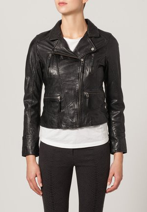 CAMERA - Leather jacket - schwarz