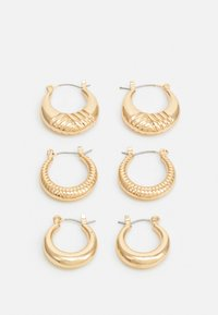 PCMAGGI HOOP EARRINGS 3 PACK - Øredobber - gold-coloured