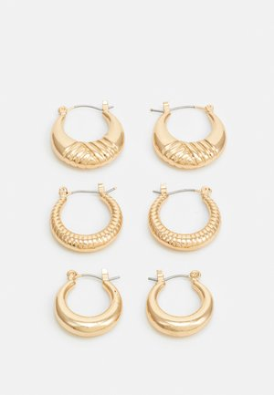 PCMAGGI HOOP EARRINGS 3 PACK - Ohrringe - gold-coloured