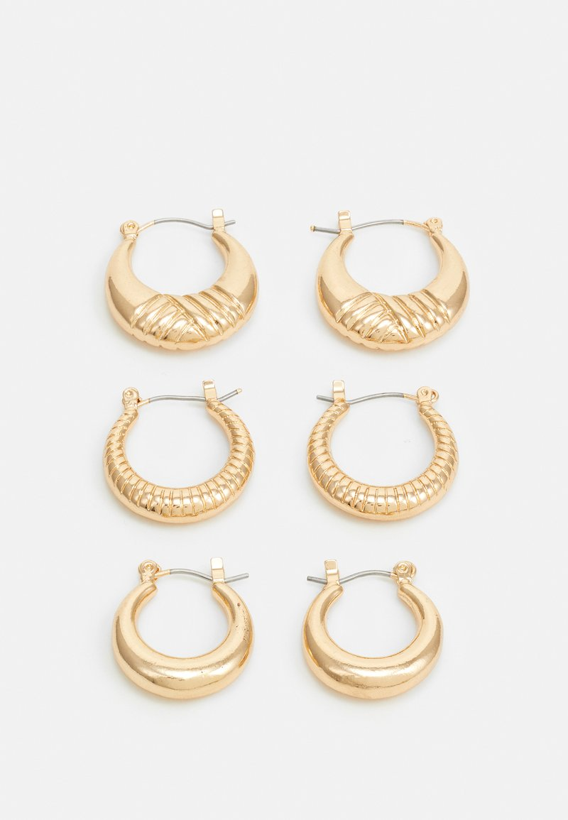 Pieces - PCMAGGI HOOP EARRINGS 3 PACK - Náušnice - gold-coloured