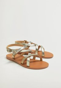 Mango - Sandals - gold - 1