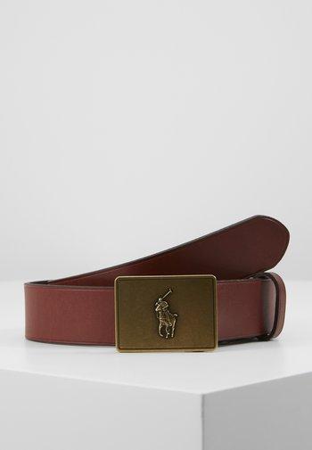 PONY BUCKLE-CASUAL - Belt - brown