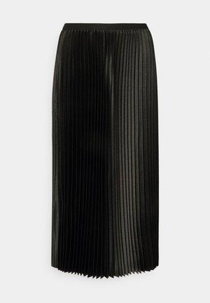 RURY - Plisovaná sukně - black