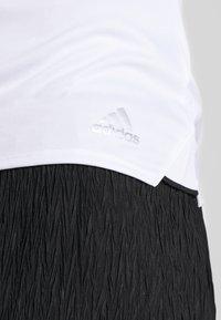 adidas Performance - CLUB TANK - Camiseta de deporte - white/silver/black - 4