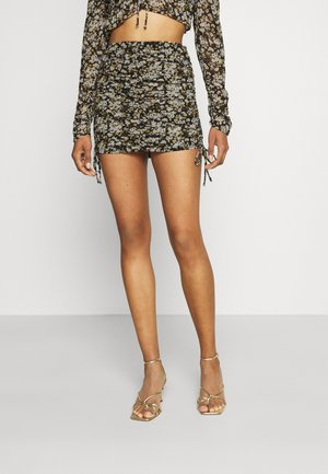 ISSY SKIRT - Mini skirt - black/multi coloured