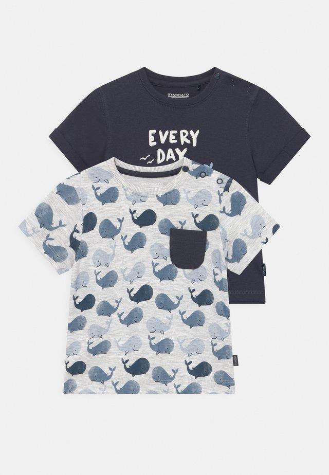 2 PACK - T-shirt con stampa - dark blue