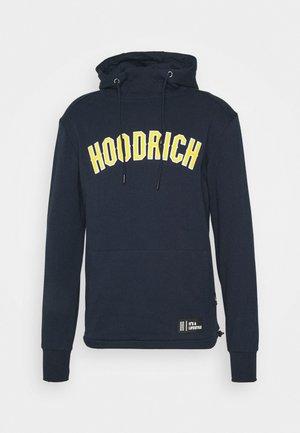 Hoodie - navy/yellow